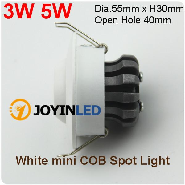 90 265 v led cob gabinetes punto accesorios 3 w cob for Focos led pequenos