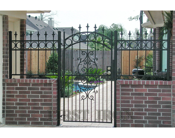 Modern Simple Wrought Iron Fence Gate Design Buy New