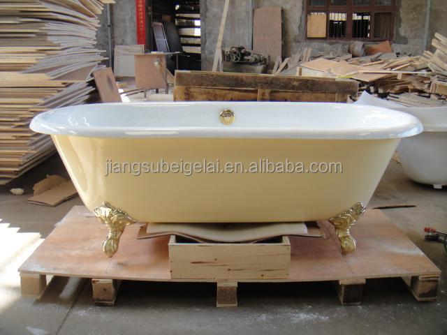 Cast Iron Bath Tubsmall Freestanding Bathtubyellow Color Classical