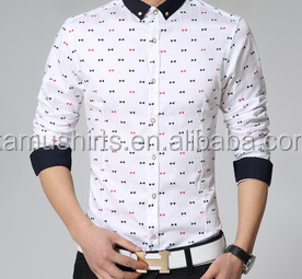 2015 New Design Fashion Korean Slim Fit Printed Men Casual Shirts ...