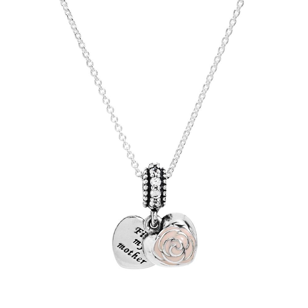 Pandora Silver Necklace 50cm: Frist My Mother 925 Silver Pendant Necklace Chain Length
