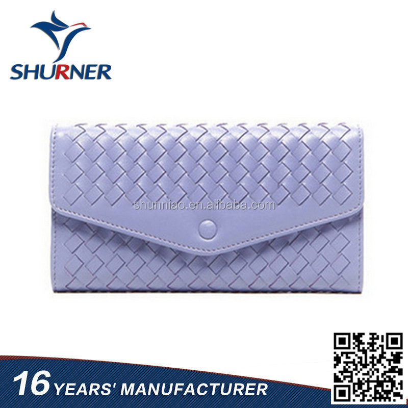 16 years Manufacturer Woven Wallet Purse for Ladies