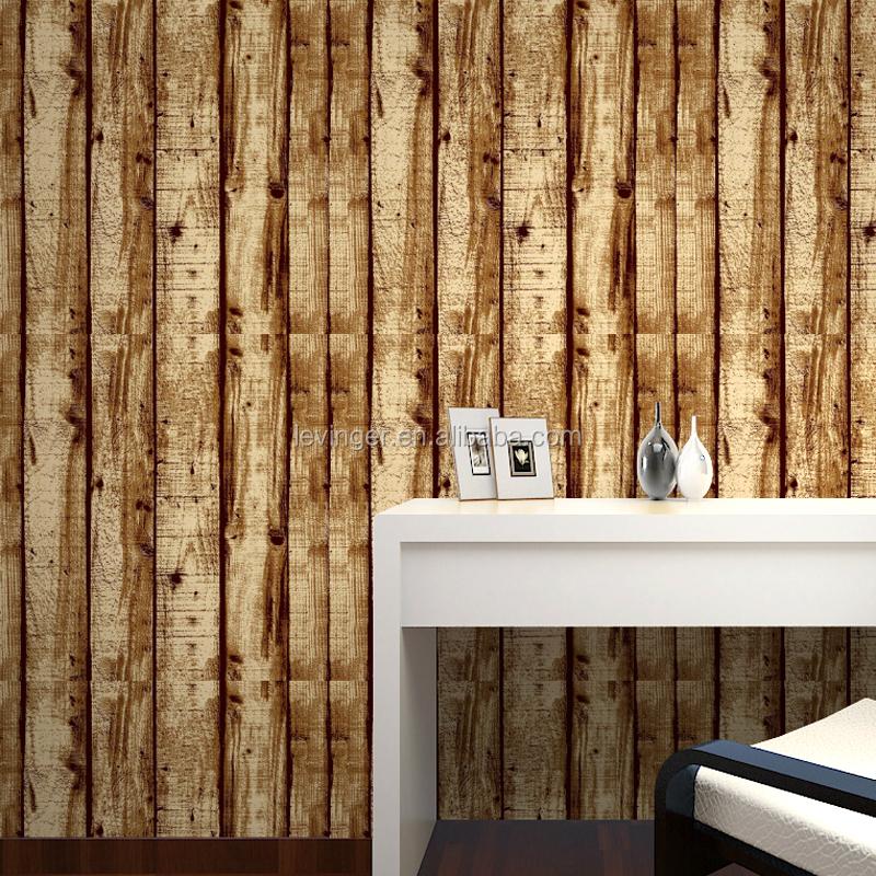 Levinger legno carta da parati vinilica 3d vintage carta da parati ...