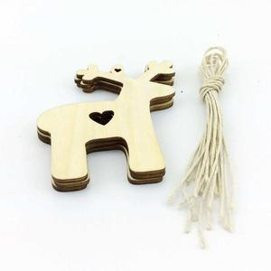 chinese factory wholesale engraved wood christmas hanging ornament