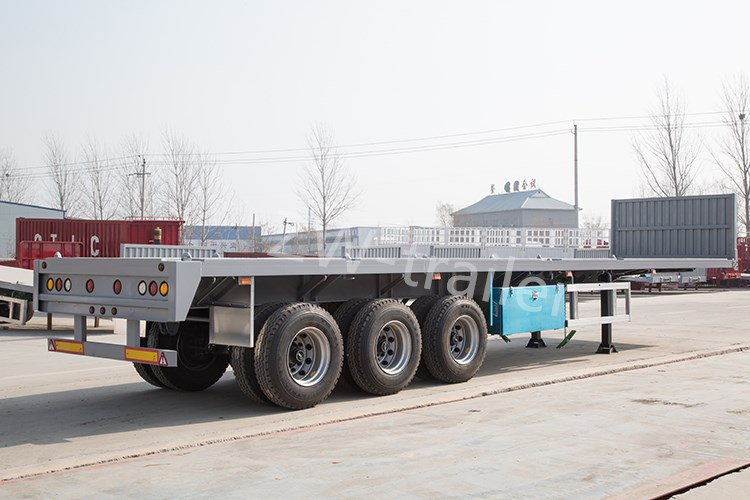 factory sale customize low price shipping container flatbed semi trailer
