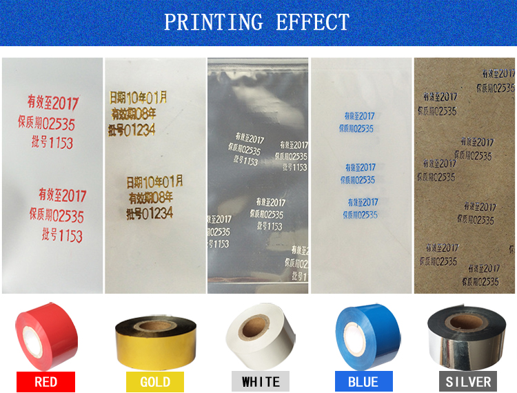 UC3 type 30mm black 100M hot coding foil for Packaging bags