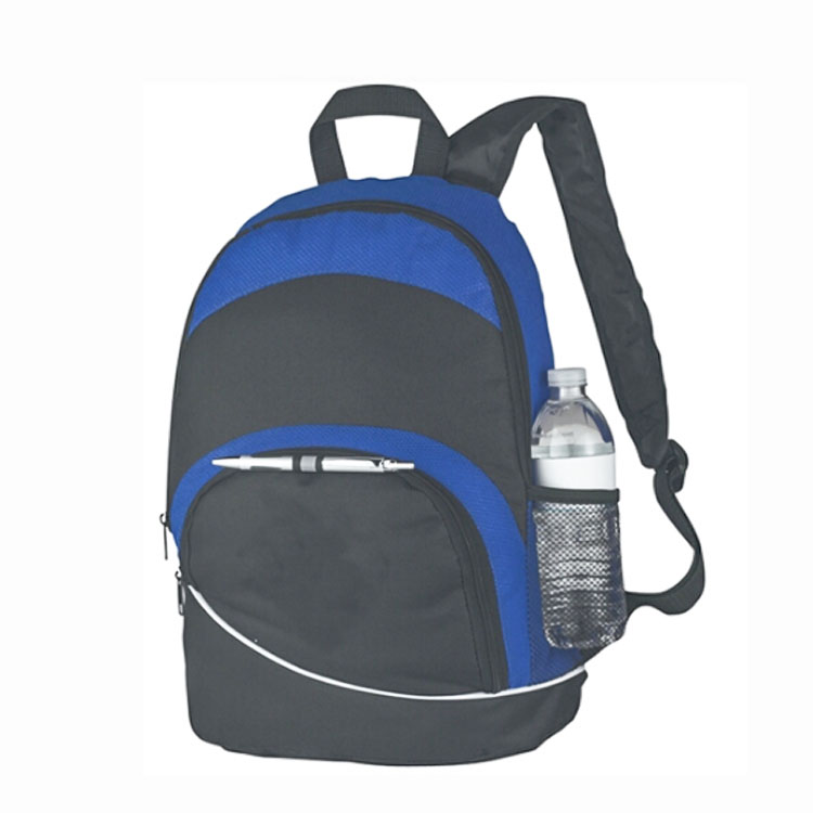Promotional 600-denier polyester backpack with folding chair