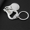 Top Quality Multifunctional Blank Keychain Nail Scissors Bottle Openers For Creative Gift Pendant Keyring Jewelry Key Souvenir