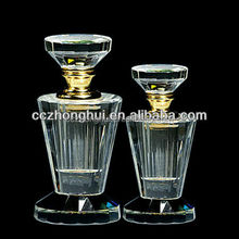 Wholesale beautiful brand custom crystal glass perfume bottle for gift