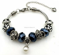 Fashion 7/7.5/8 inch Hematite Theme Wholesale Charms Bracelet Charms Stainless Steel Charms