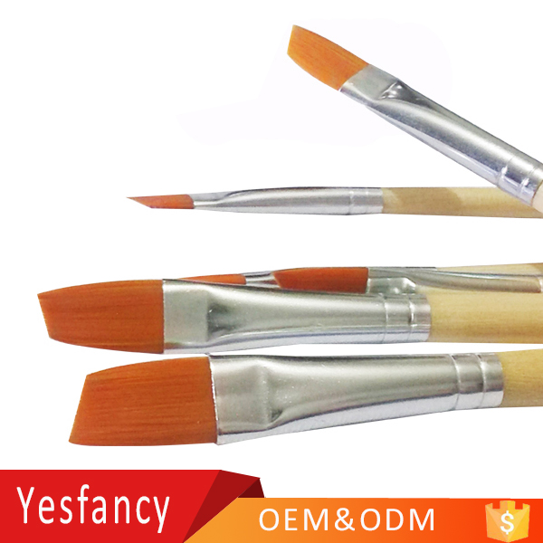 high quality wooden handle oil paints acrylic paint brush