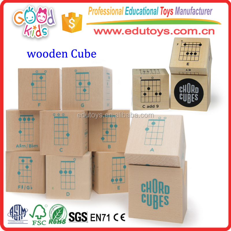 HandCraft Basswood Kids Wooden Cube, Learning Resources Kindergarten Wooden Toy Cube