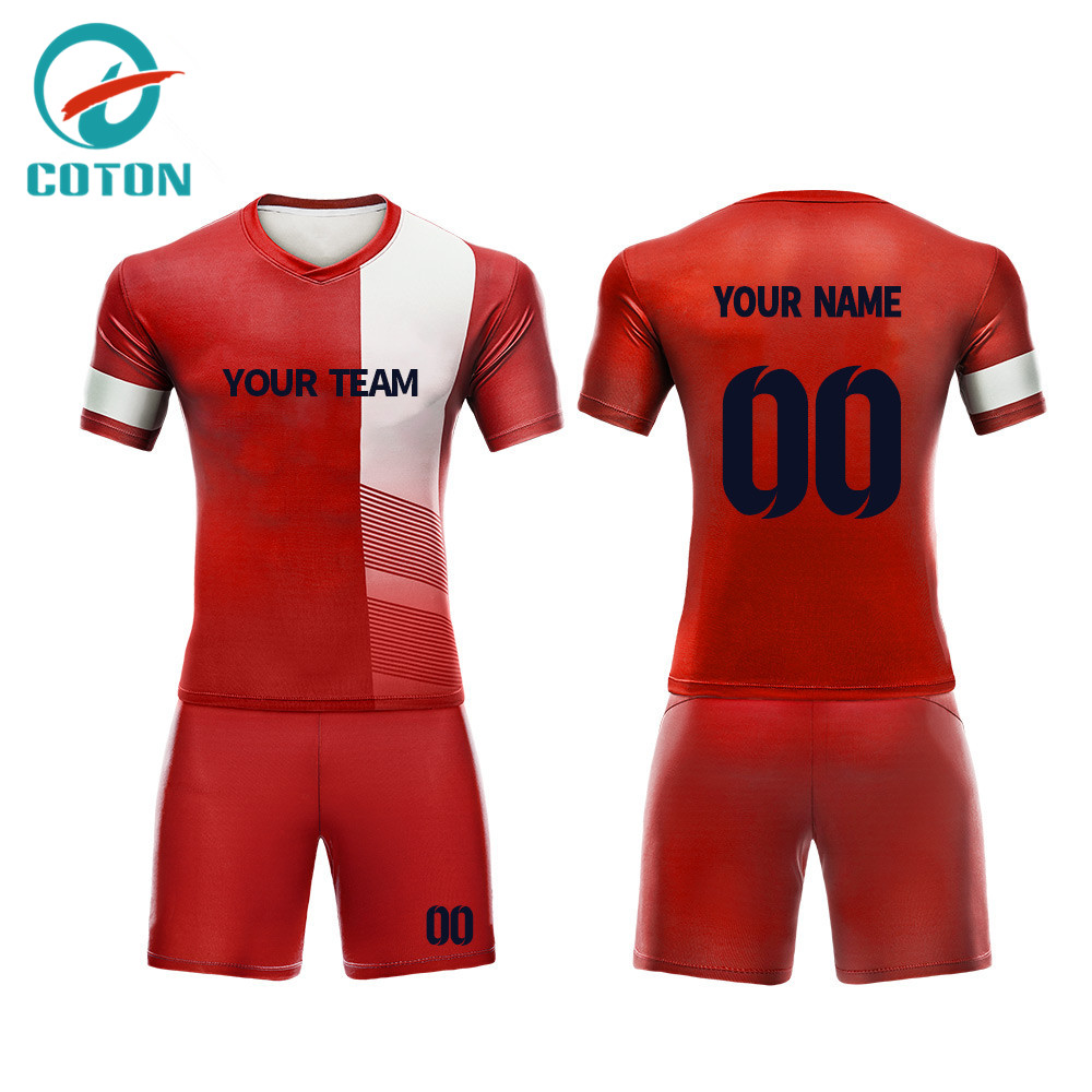 Custom your pattern sublimation football jersey set wholesale soccer uniform
