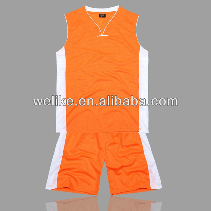 6cd353f2f New design for basketball jersey orange and white basketball uniform  basketball tank top wholesale