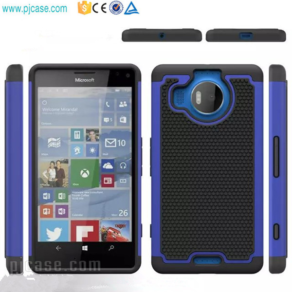 PC & Silicone hybrid combo football phone case for Nokia lumia 950 xl