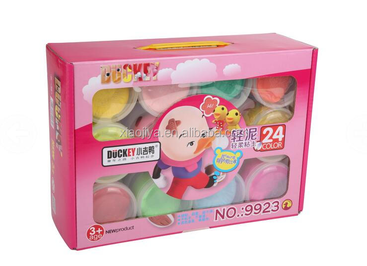 Novel Toy For Children 24 colors wholesale super light clay