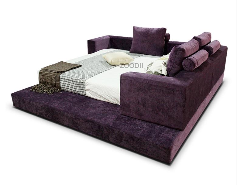 King Size Soft Bed Modern Platform Bed On Sale 2015