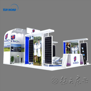Exhibition Display Stands : Detian offer solar display stand exhibition equipment durable