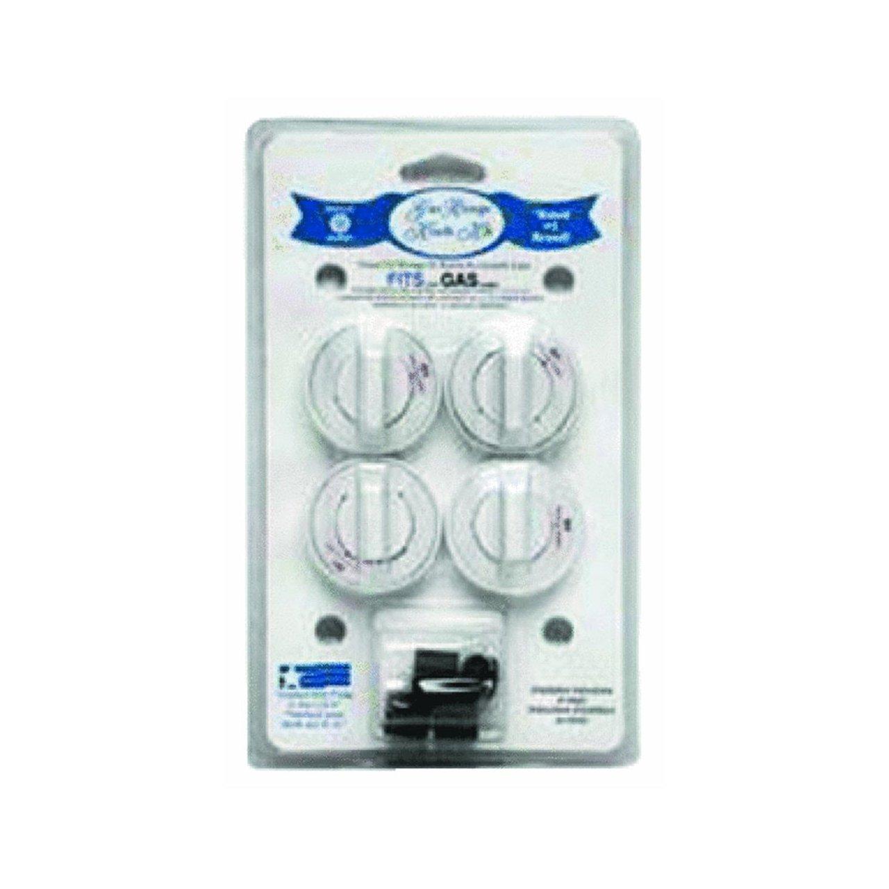 Range Kleen 8234 Gas Range Knobs – 4 White Gas Range Safety Knobs Gas Stove Accessories