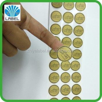 2015 newest customized adhesive small round label sticker printed round stickers on sheet