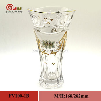 High Quality Crystal Glass Vase Handmade Painted Flower For Crystal
