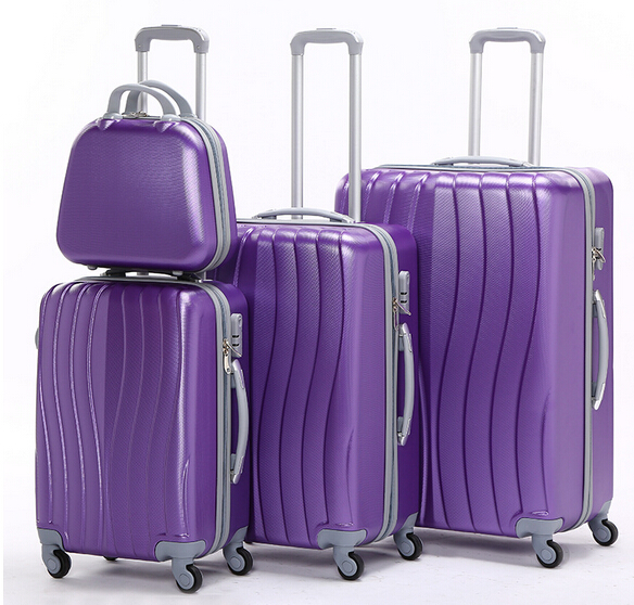 4pcs ABS hardside travel trolley luggage set trolly bags case