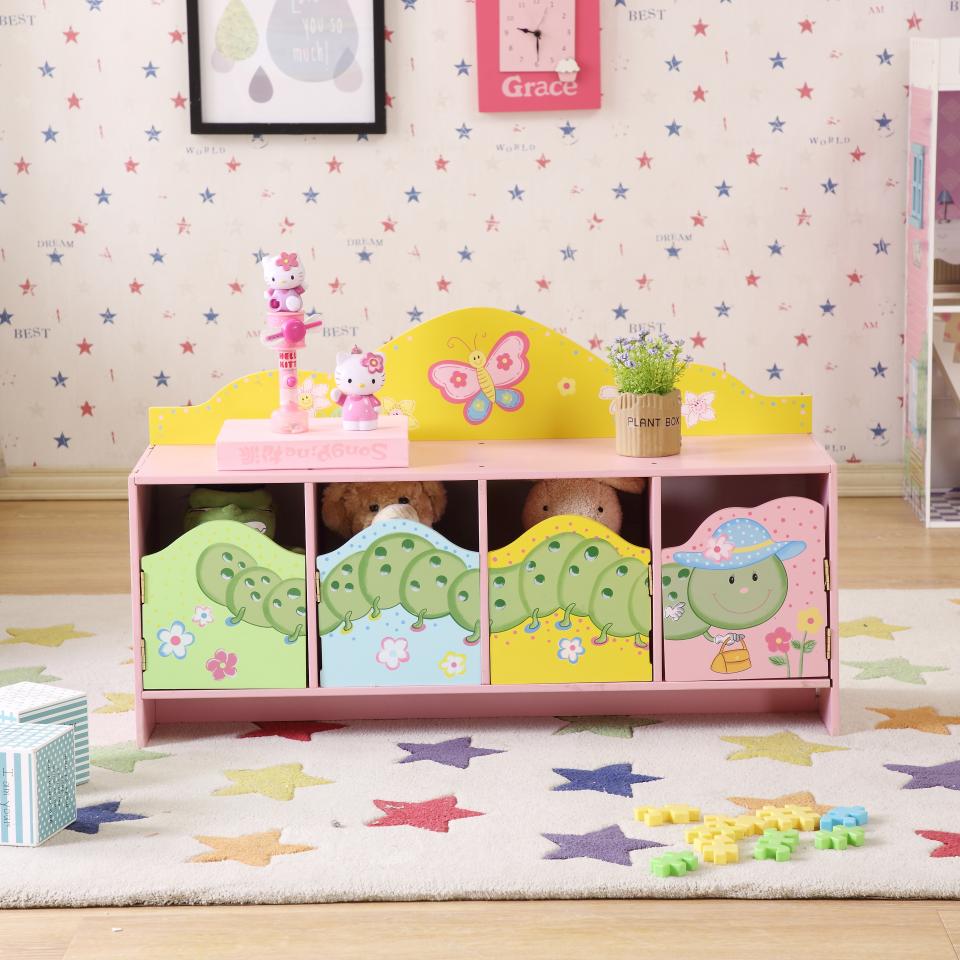 Sıcak satış çocuk oturma odası mobilya ahşap depolama dolabı tezgah çocuklar ahşap oyuncak ahşap depolama dolapları