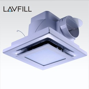 Big Wind Ventilation Fan Bathroom Exhaust Vent Pipe Ceiling Pipe Type Exhaust Fan