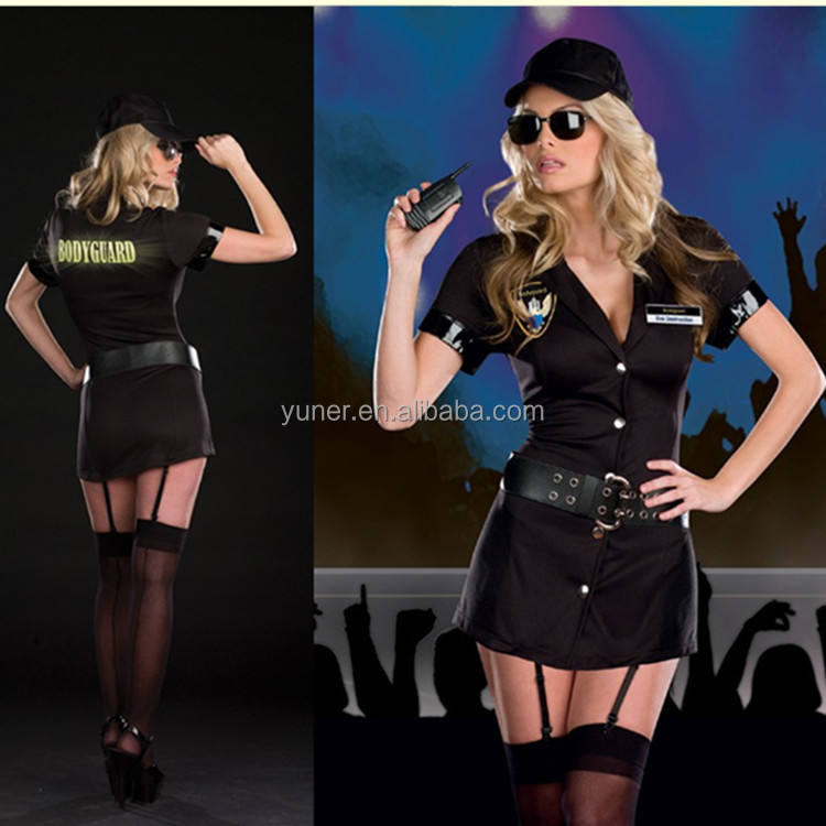 Police officer Teaching role clothing robes uniforms temptation Halloween Costume cosplay