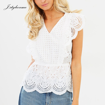 Ladies Frilled Cotton Lace Crochet Tops Buy Crochet Topcotton