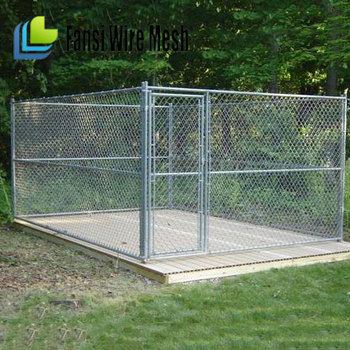 Metal Pet Fence Dog Cat Pen Outdoor Kennel Cage Gate