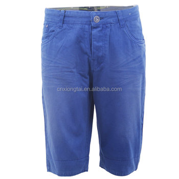 100%cotton twill men's shorts for summer wear