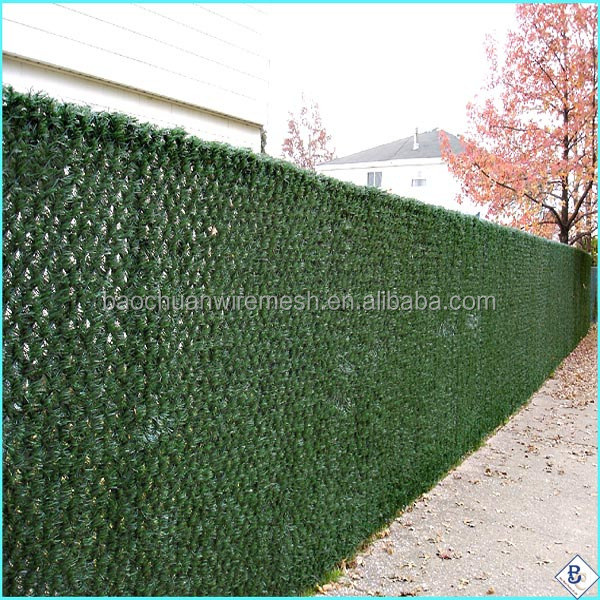 High Safely Privacy Hedge Link Slats Pvc Coated Chain Link