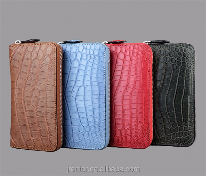 Wholesale elegant felt ladies clutch bag genuine crocodile leather clutch bag women