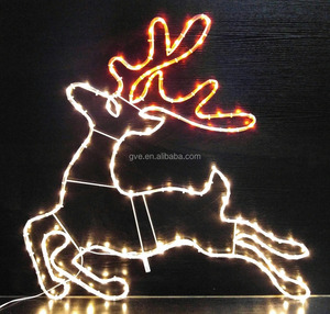 low voltage deer Christmas tree sculpture decoration led mini soft rope light