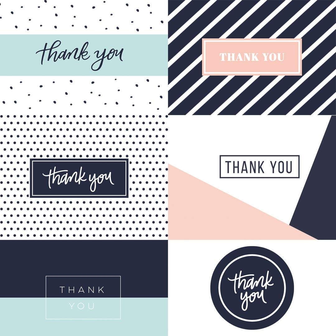 Customized Design Birthday Greeting Thank You Cards With Envelopes