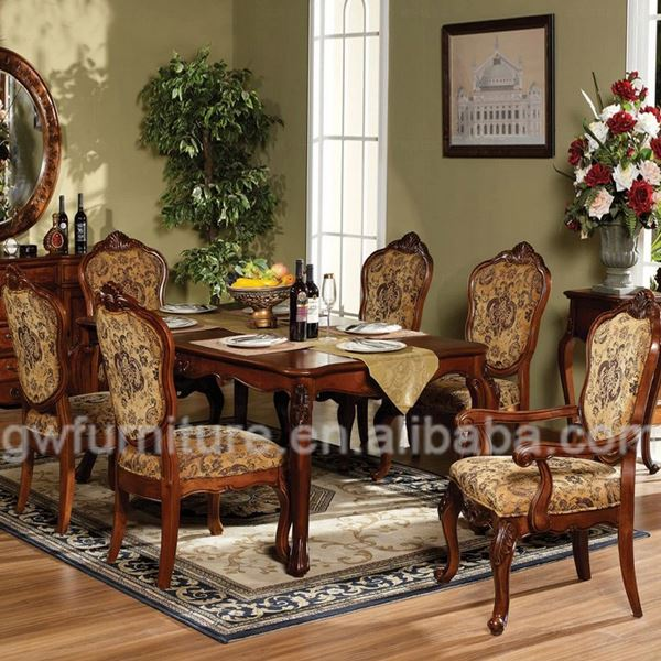 Antique french dining table and chairs furniture