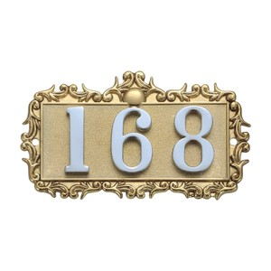 Modern alloy door number plate for apartment