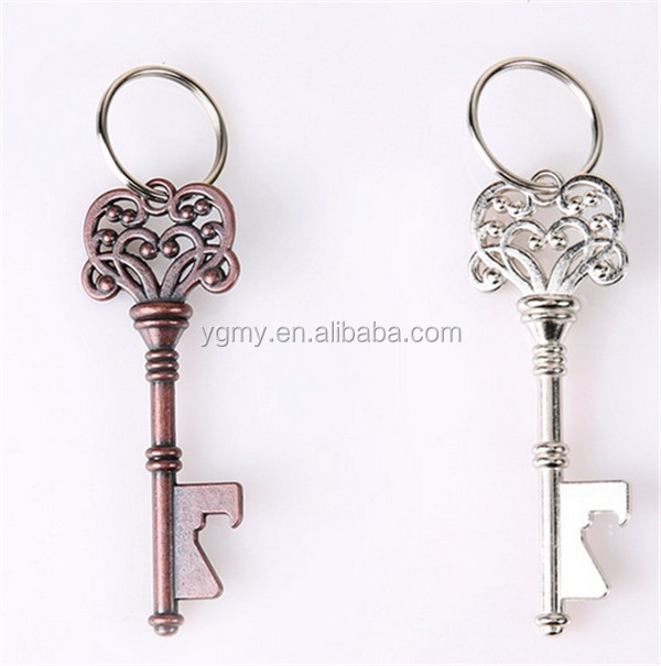 Design Creative Wedding Favors Party Back Gifts Antique Copper Skeleton Key Beer Bottle Opener