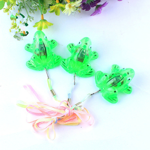 2015 New Design LED Flashing frog / colorful Flashing light toy/Creative flashing frog for party