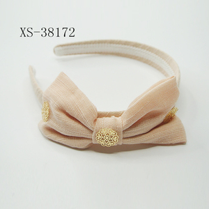 Hair Accessory Headband Hair Band For Kids: shenzhen snow yarn knit headband with flower bow