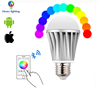 New Products 2016 Smart Buluthooth Rgb Led Bulb Dmx Controlled Color Adjustable 6W E27 Remote Control Rgb Wifi Led Bulb