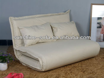 Bianco sporco matrimoniale futon divano letto con struttura in