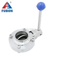 Sanitary (food) Grade Free Samples Competitive Price Wafer Type Sanitary 4 Inch Butterfly Valve
