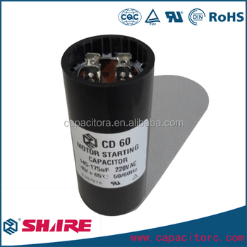 Customer Size Cd60 Motor Starting Capacitor Cd60 Capacitor - Buy Mex  Capacitor,Start Capacitor 220,Cd60a Ac Motor Start Capacitor Product on