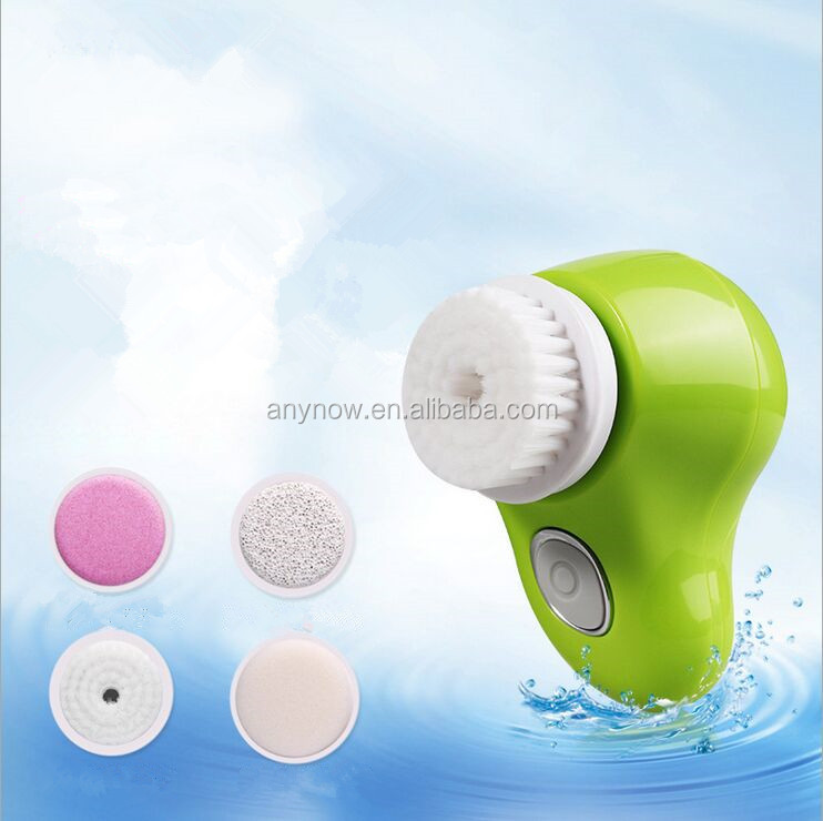 Waterproof Electric Rotating Facial Pore Cleansing Brush With replaceable Heads