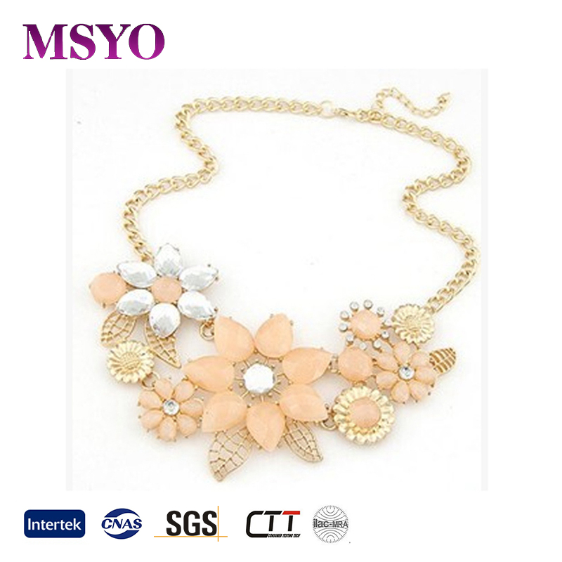 The European And American Fashion Jewelry Cheap 22K Gold Flower Jewelry