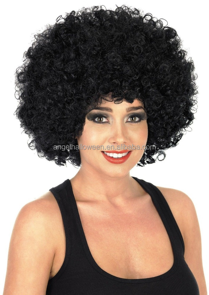 Cheap Price Black Afro Kinky Curly Short Cosplay Wigs For Women Fw2137 -  Buy Wig bb69b836187