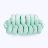 Unique Modern Scandi Style Aqua Green Solid Bedding Home Decorative Floor Throw Pillow Knot Cushion