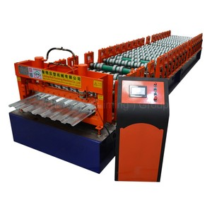 innovative hydraulic metal sheet decoiler with loading car beam cold roll forming machine
